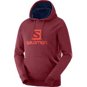 Salomon Logo Midlayer Herrer rød